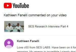 Sleep Energy C60 Testimonial YouTube - SES Research Inc.
