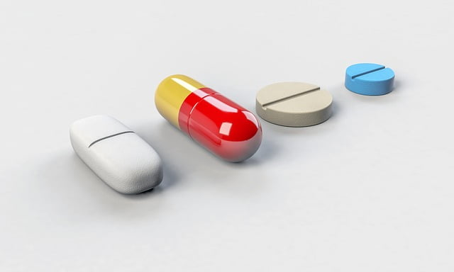 row of pills or nootropics