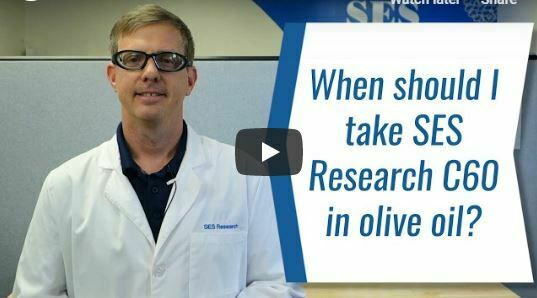When should we take SES Research C60 in Olive Oil?