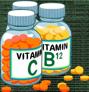Bottles of Vitamin pills